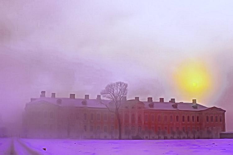 поездка в Рундальский Дворец на Новый год