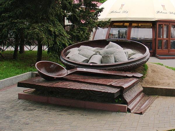 Полтава памятник галушкам