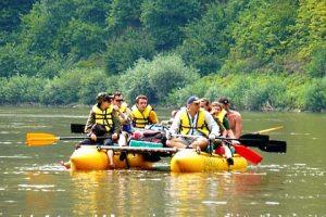 Активний туризм, сплав по Дністру