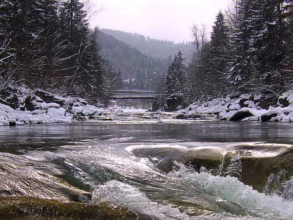 Водопад в Яремче Карпаты