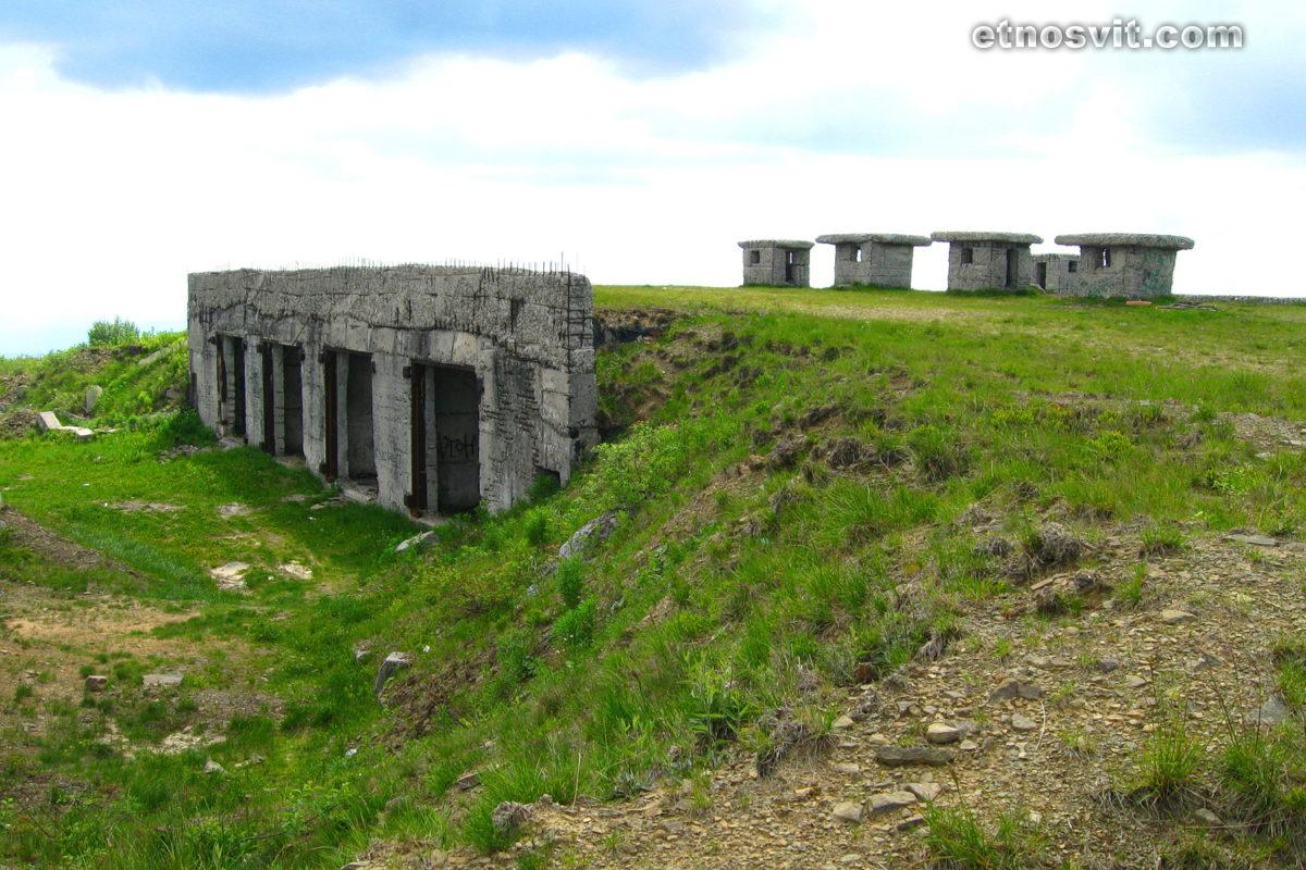 Полонина Руна - военные бункеры