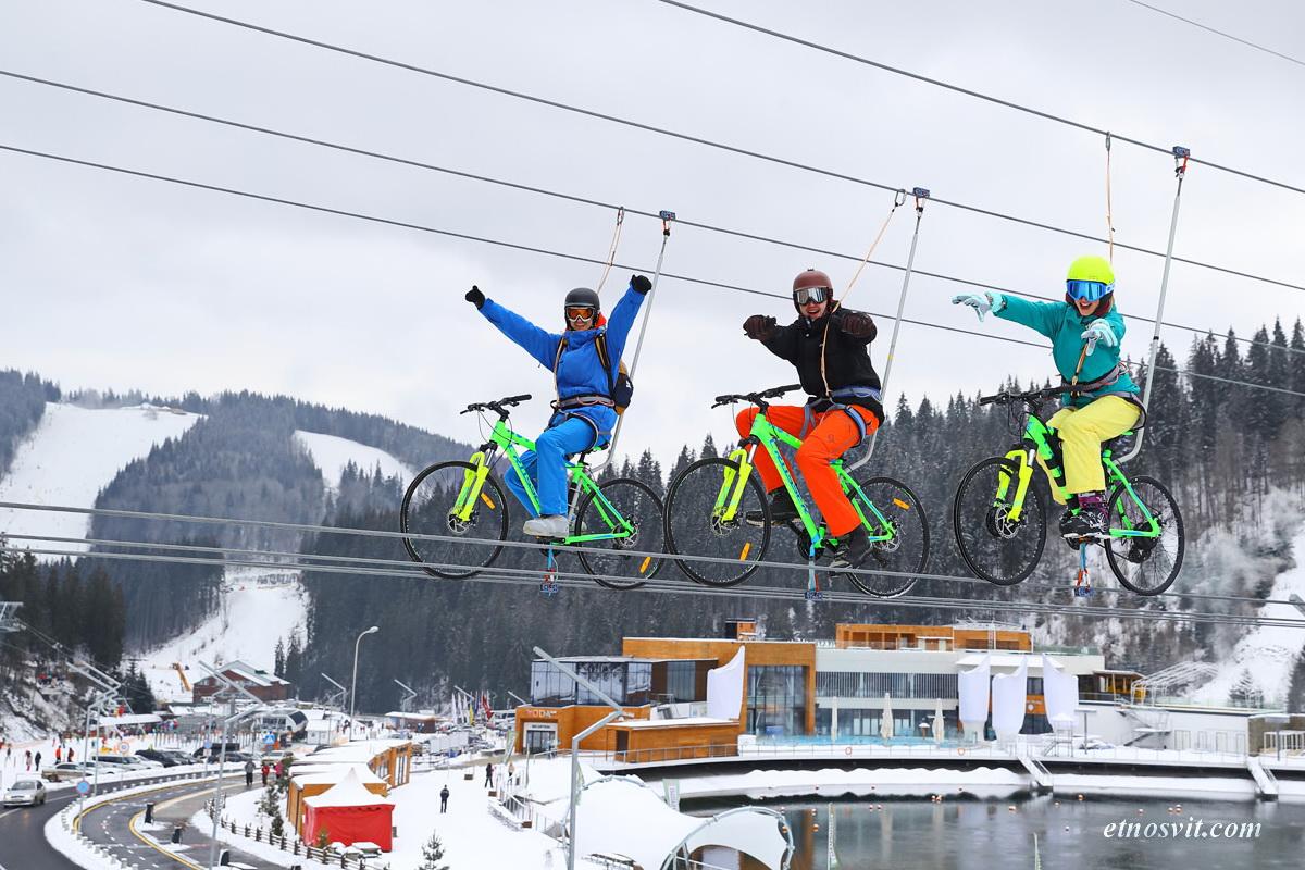 Буковель розваги bike-zip