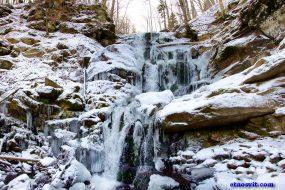 водопад Шипот зимой