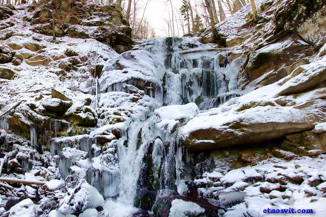 водоспад Шипіт взимку